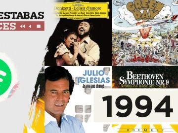 Lista reproducible: Nirvana, Los Chichos o Julio Iglesias, entre los éxitos de Dónde estabas entonces 1994