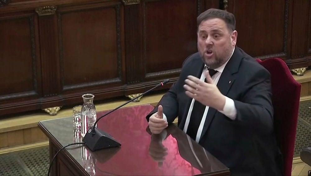 Oriol Junqueras declara en el juicio del procés
