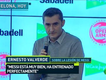 """Ernesto Valverde: """"Leo Messi está muy bien, ha entrenado perfectamente"""""""