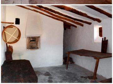 magen del horno de Mas Blanco antes y después de la rehabilitación llevada a cabo por la Asociación Recartografías
