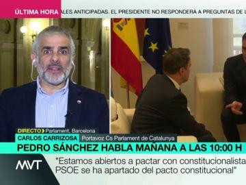 """Carlos Carrizosa (Ciudadanos): """"No pactaremos con el 'sanchismo', preso del independentismo y del separatismo"""""""