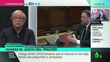 """Joaquín Giménez, sobre las declaraciones de Junqueras en el juicio del 'procés': """"Ha estado pendiente de los medios de comunicación  y de las próximas elecciones"""""""