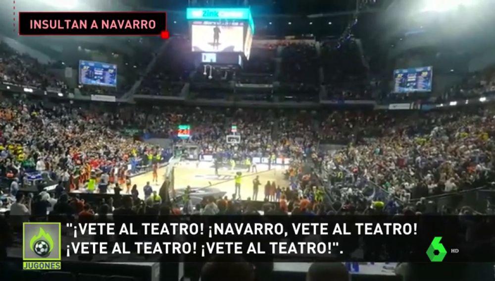 Los lamentables cánticos a Juan Carlos Navarro en su homenaje en Copa del Rey: '¡Vete al teatro, Navarro vete al teatro!'