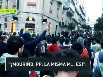 """Los insultos a Casado y Feijóo de algunos aficionados del Celta: """"Fuera de aquí, fascistas"""""""