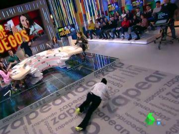 Silvia Abril caída en el plató de Zapeando