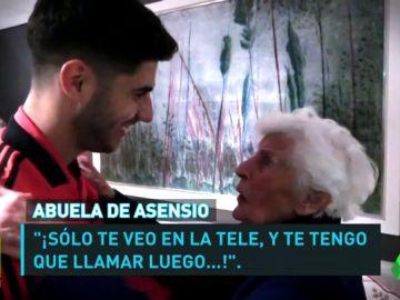 La emotiva despedida de Asensio con su abuela holandesa tras el partido contra el Ajax