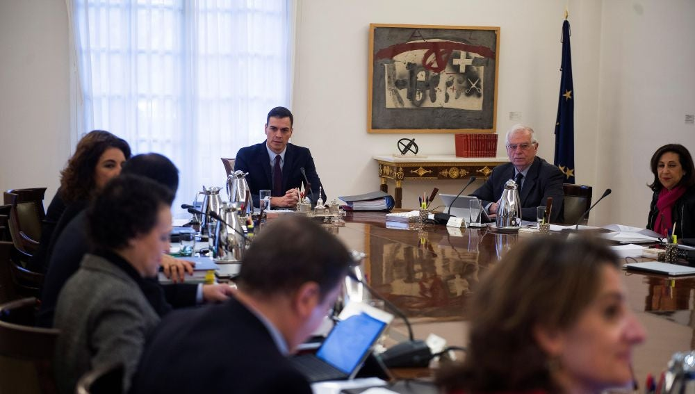 Imagen del Consejo de Ministros en Moncloa