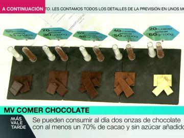 Onzas de chocolate en Más Vale Comer