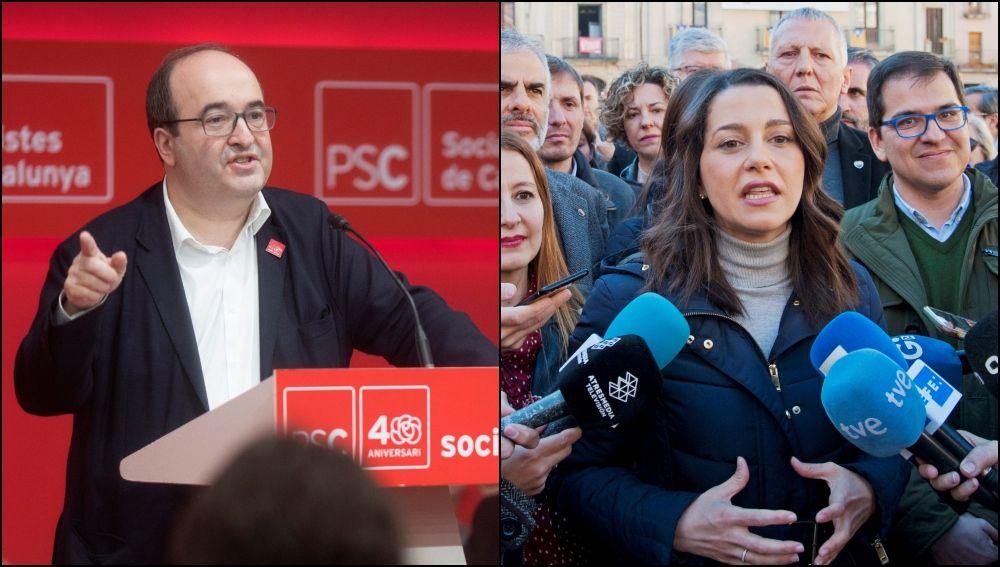 Miquel Iceta e Inés Arrimadas arrancan precampaña electoral
