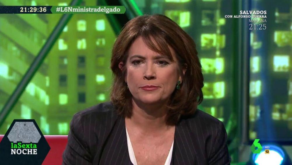 """Dolores Delgado: """"Yo quería decir 'derecha tricéfala' no 'derecha trifálica', fue un lapsus"""""""