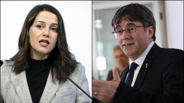 Inés Arrimadas y Carles Puigdemont