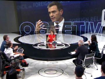 Imagen de un debate político en El Objetivo