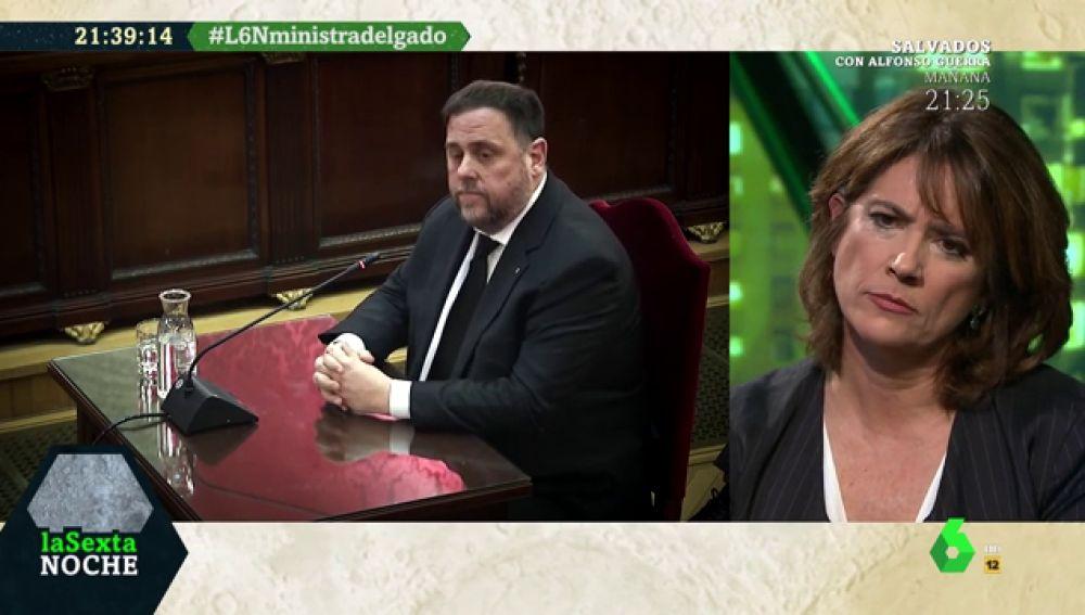 """Dolores Delgado contesta a Junqueras: """"En España no hay presos políticos, se están enjuiciando hechos"""""""