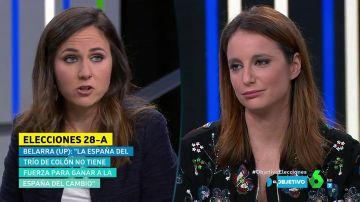 Ione Belarra y Andrea Levy en El Objetivo