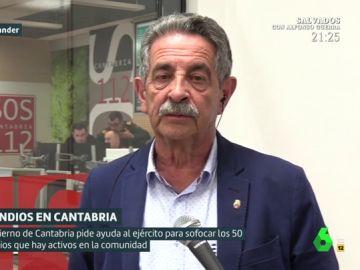 """Miguel Ángel Revilla: """"Los pirómanos son terroristas que están contra todo. Hay que denunciar"""""""