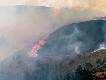 Imagen de un incendio en el monte