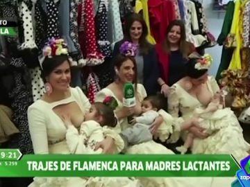 Así es el traje de flamenca para madres lactantes