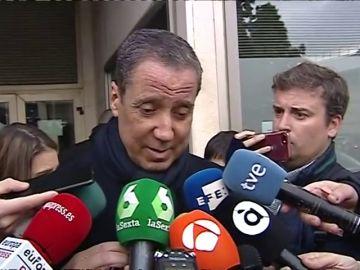 """Zaplana, tras firmar en el juzgado: """"Jamás he participado en una adjudicación ilegal"""""""