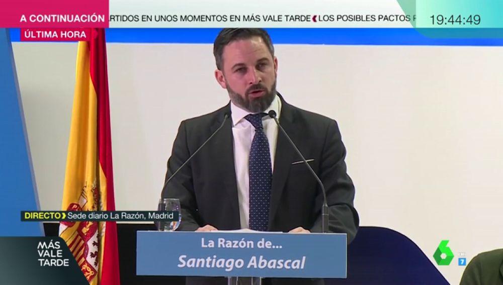 """Abascal comienza la precampaña pidiendo el voto contra el feminismo y el separatismo: """"El próximo Vistalegre de Vox será en Cataluña"""""""