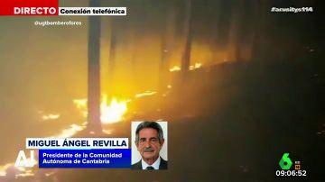 """El llamamiento de Revilla tras los incendios: """"Cuando vean que alguien sale hacia el monte de manera sospechosa llamen a la Guardia Civil"""""""