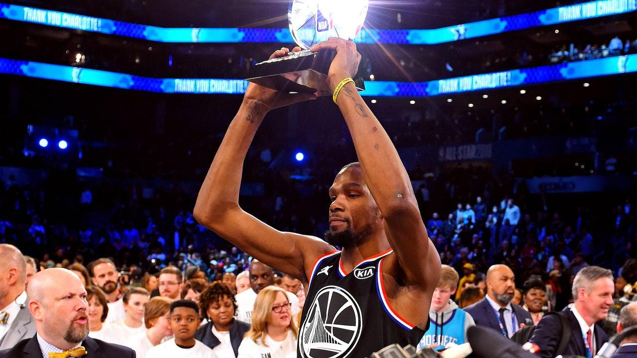 0bf36476360 Kevin Durant reina en la victoria del  Equipo LeBron  ante el  Equipo  Giannis  en el All Star de la NBA