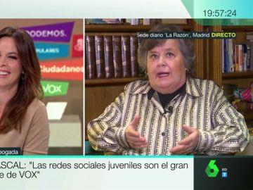 Cristina Almeida se lamenta de que la confundan con el candidato del PP al Ayuntamiento de Madrid