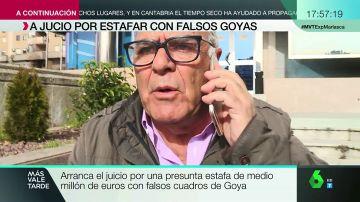 Amenazas y empujones a laSexta: así reacciona uno de los acusados por la estafa de los falsos Goya