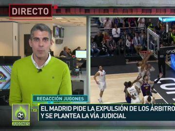 Imagen del final de la Copa ACB entre Real Madrid y Barcelona