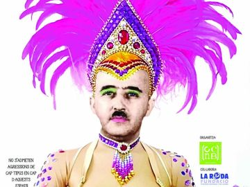Francisco Franco en el cartel que anuncia los carnavales del barrio barcelonés Nou Barris