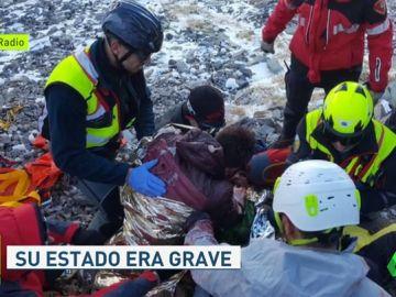 Rescatan a un senderista tras caer por un barranco en el parque natural del Moncayo