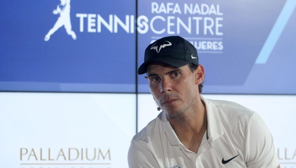 Rafa Nadal, en la inauguración del Rafa Nadal Tennis Centre