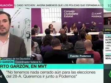 """Alberto Garzón confirma que la intención de IU es presentarse a las elecciones junto a Podemos: """"Es una responsabilidad histórica no fragmentar más la izquierda"""""""