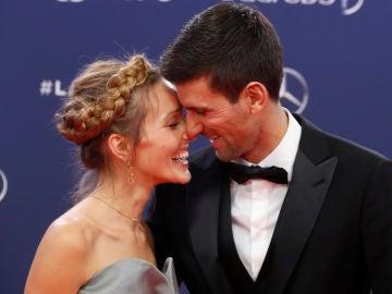 Jelena y Novak Djokovic, en los premios Laureus