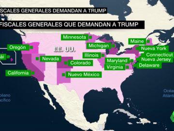 """Hasta 16 estados de EEUU demandan a Trump por declarar emergencia nacional la construcción del muro para hacerlo """"más rápido"""""""