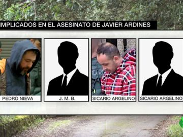 Los cuatro implicados en el asesinato de Javier Ardines