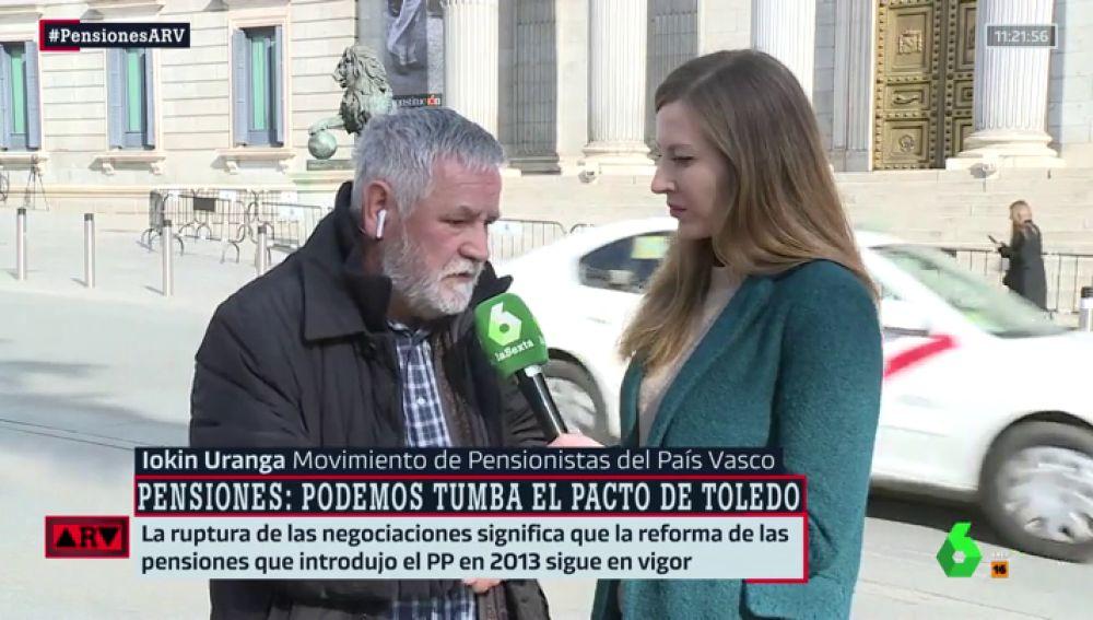 Iokin Uranga, del Movimiento de Pensionistas del País Vasco