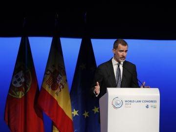 El rey de España, Felipe VI, en un congreso internacional de juristas