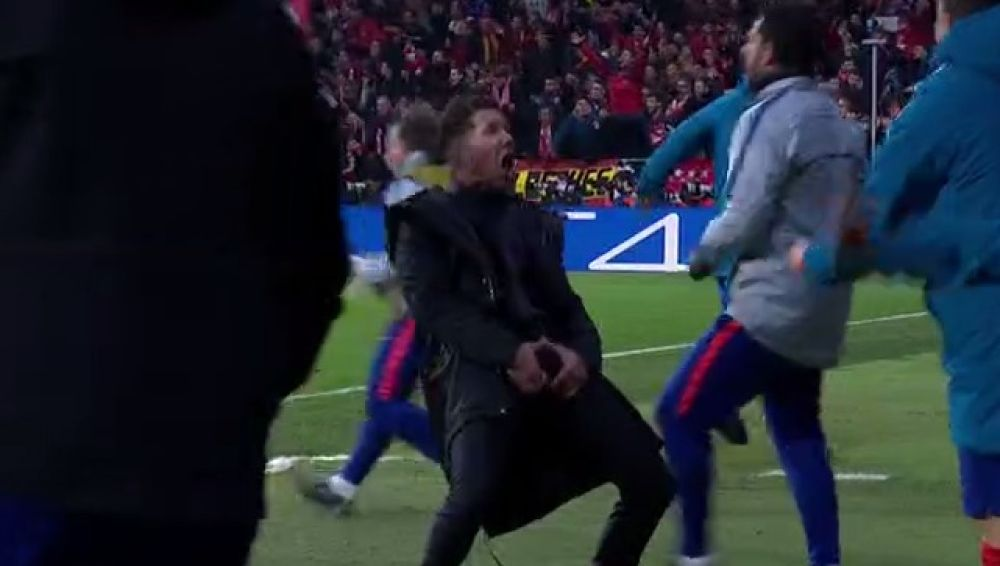 Le cae multota a Diego Simeone por su festejo obsceno — UEFA