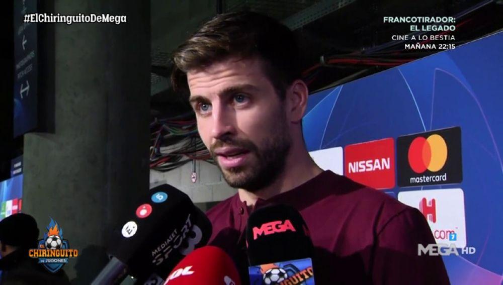 """Piqué: """"¿Las quejas arbitrales del Madrid? Pasa en el baloncesto, pasa en el fútbol...después van al Metropolitano, pasa lo que pasa y callan un rato"""""""