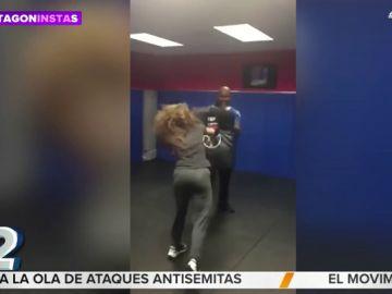 Shakira boxea con la Policía de Miami