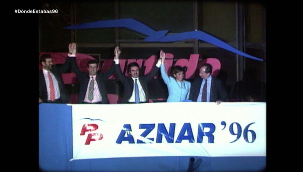 Aznar ganó las elecciones en 1996