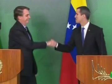 Juan Guaidó se reúne con Jair Bolsonaro en el palacio presidencial de Brasilia