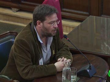 """Dante Fachín en el juicio del 'procés': """"Había periodistas subidos encima de los coches de la Guardia Civil el 20S"""""""