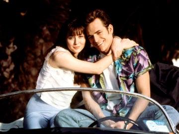Luke Perry y Shannen Doherty, Dylan y Brenda en 'Sensación de vivir'