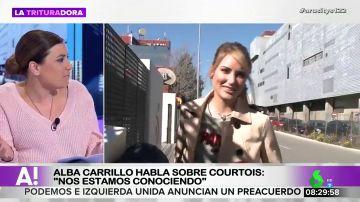 """Alba Carrillo confiesa cómo es estar con Courtois: """"Es un tío interesante, me encanta hablar con él"""""""