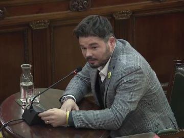 Gabriel Rufián en el juicio del 'proces'