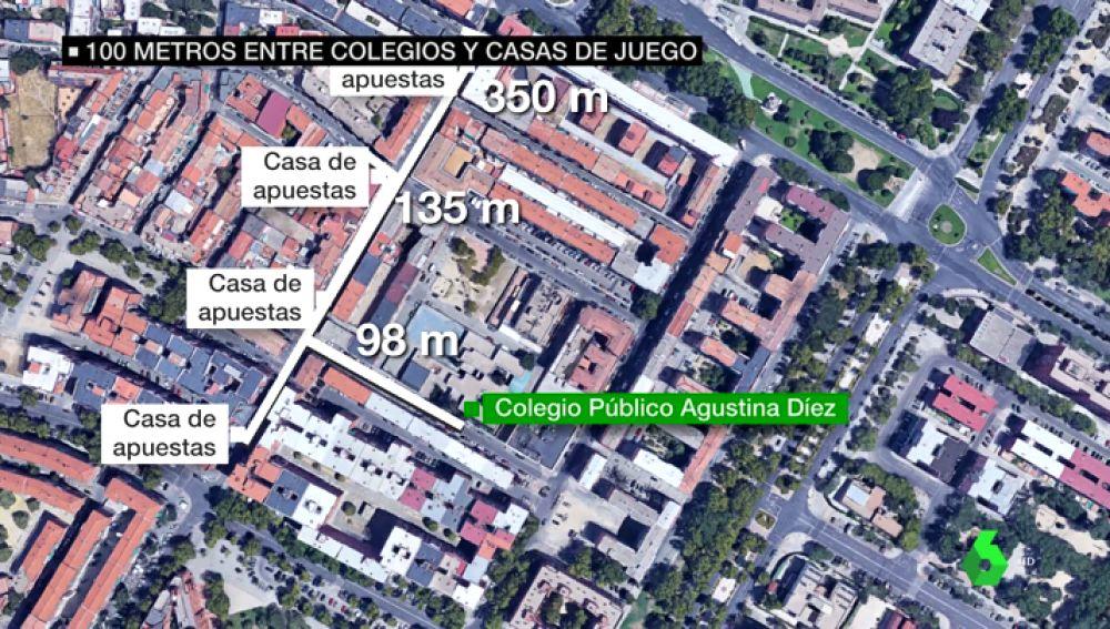 Casas de apuestas próximas a un colegio de Madrid