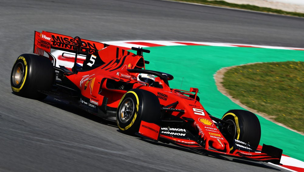 Sebastian Vettel, a bordo de su Ferrari