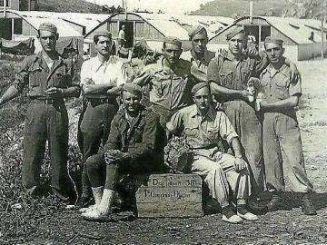 Compañía Primera del Batallón Disciplinario de Soldados Trabajadores número 38, en torno a 1940.