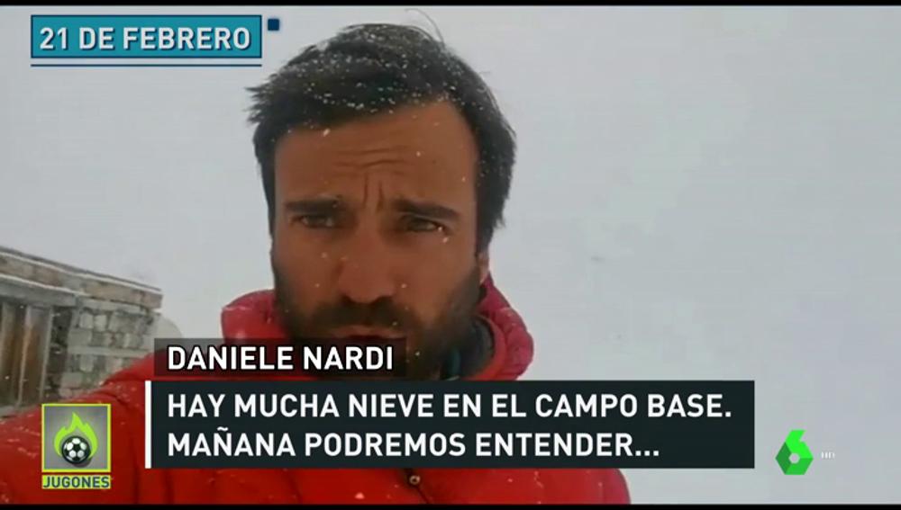 """La última conexión del alpinista desparecido en el Nanga Parbat: """"Hemos subido hasta los 6.200 metros por un terreno muy empinado"""""""